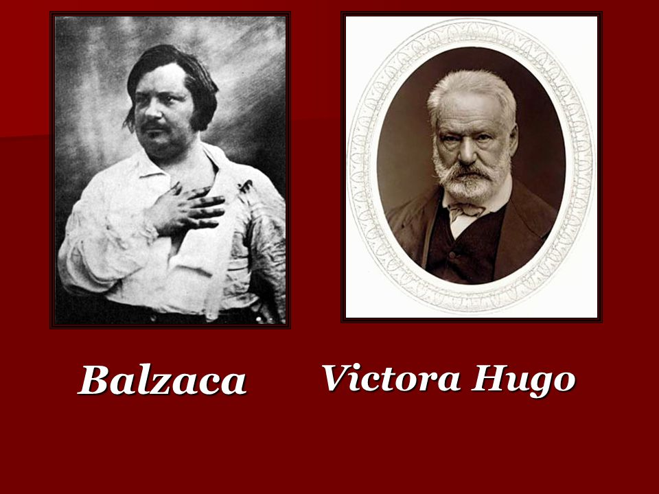 Balzaca Victora Hugo