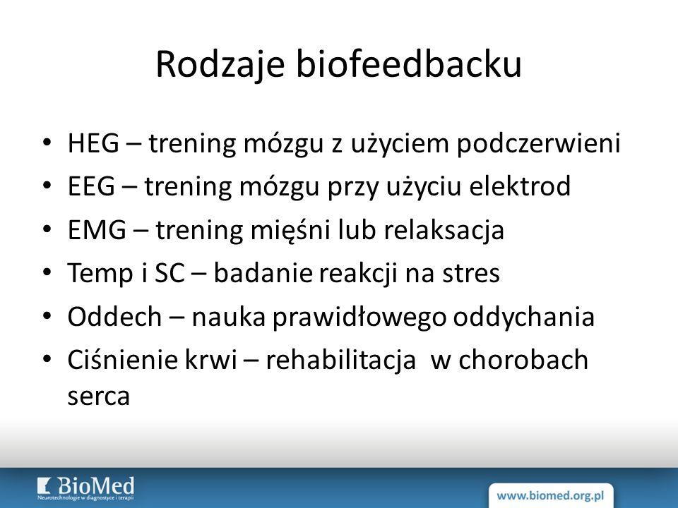 Rodzaje biofeedbacku HEG – trening mózgu z użyciem podczerwieni