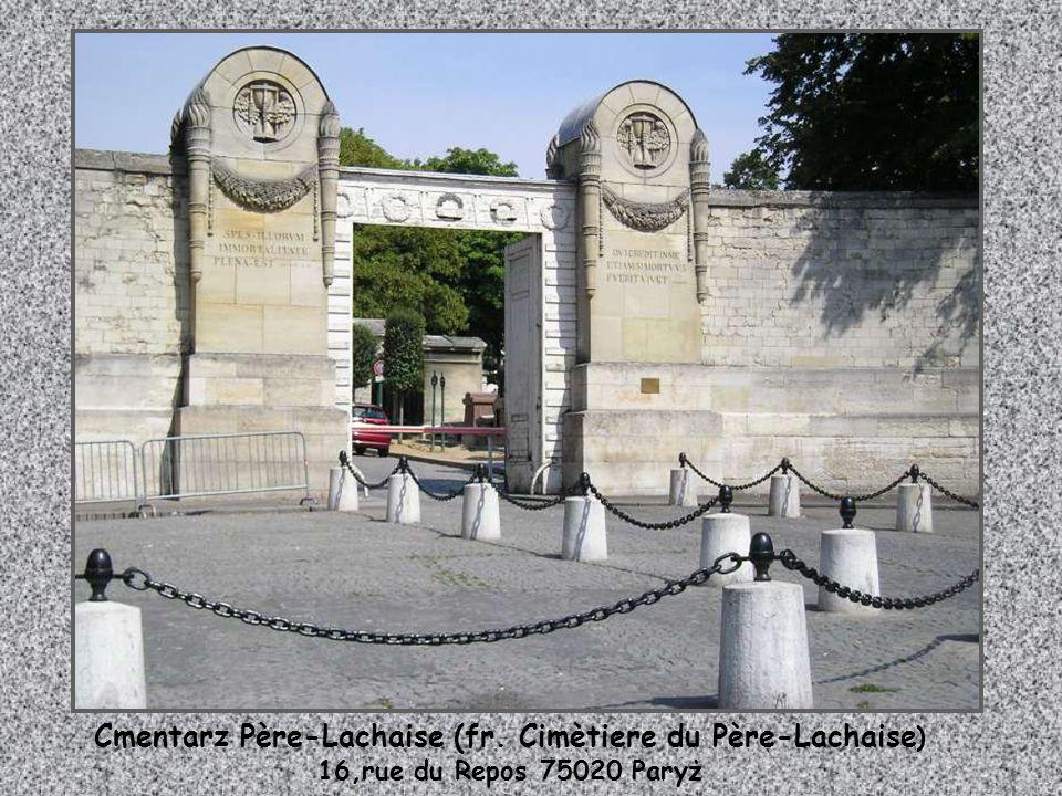 Cmentarz Père-Lachaise (fr. Cimètiere du Père-Lachaise)