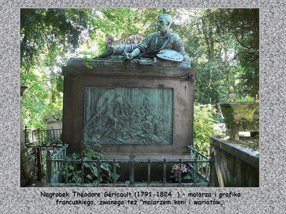 """Nagrobek Théodore Géricault (1791-1824 ) – malarza i grafika francuskiego, zwanego też malarzem koni i wariatów""""."""