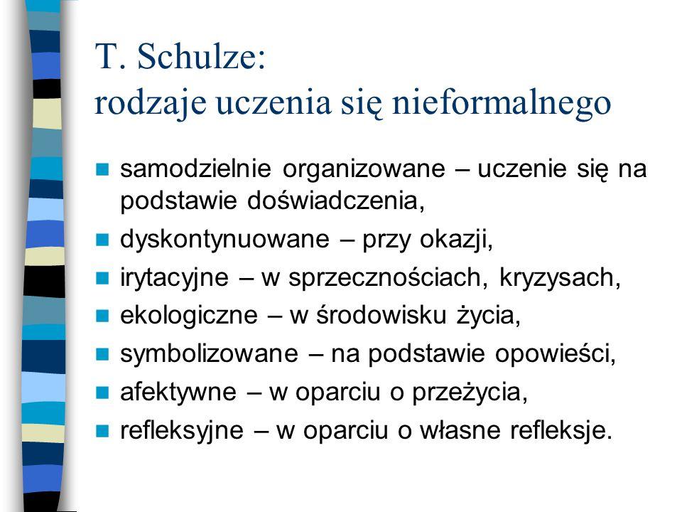 T. Schulze: rodzaje uczenia się nieformalnego