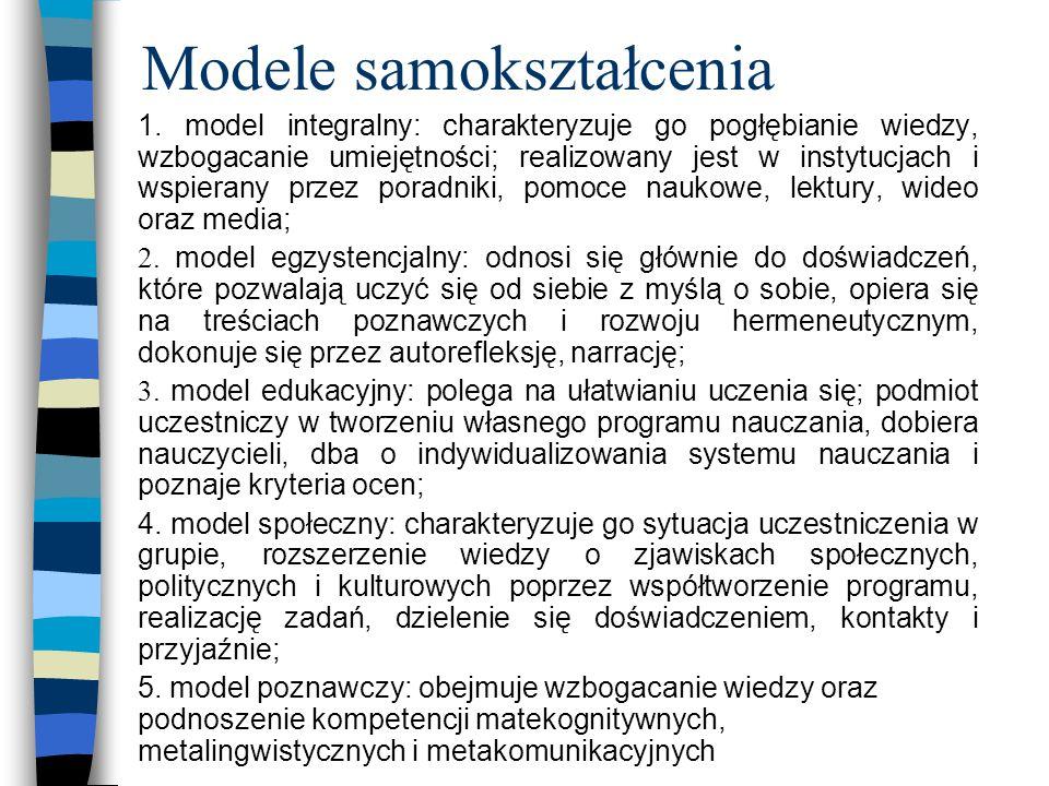 Modele samokształcenia