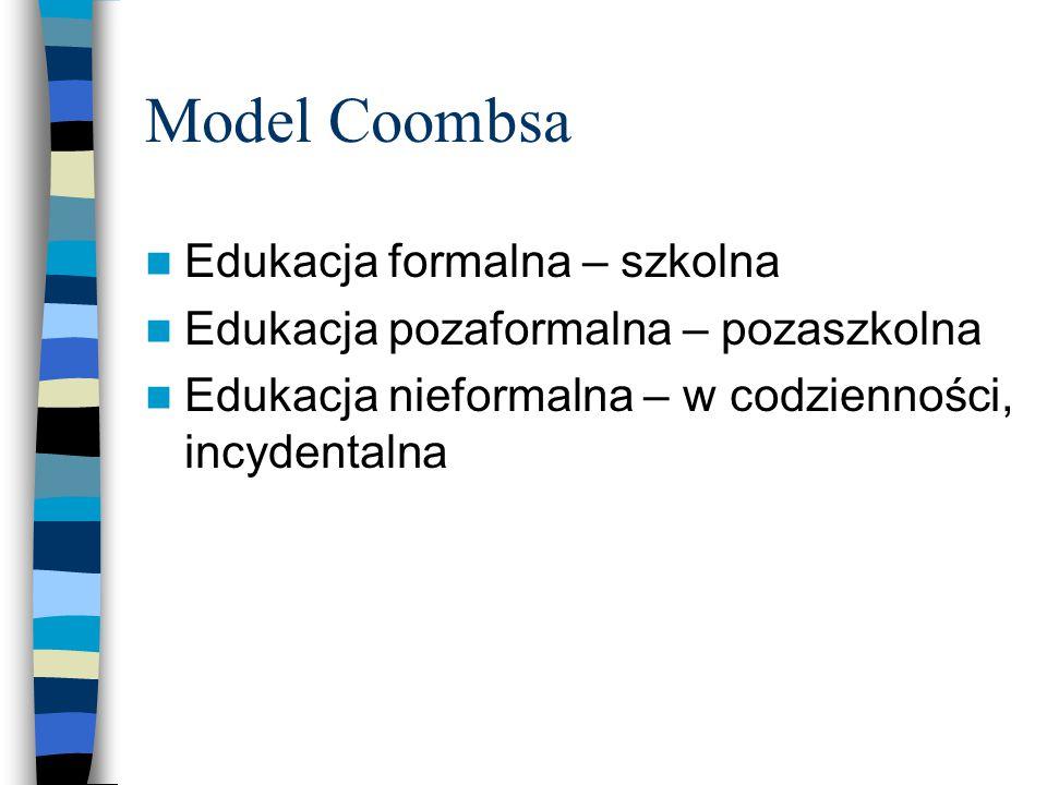 Model Coombsa Edukacja formalna – szkolna