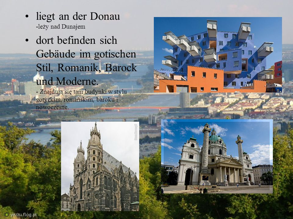 liegt an der Donau -leży nad Dunajem