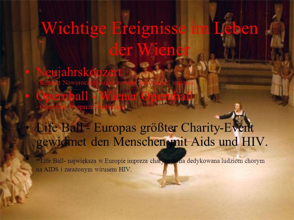 Wichtige Ereignisse im Leben der Wiener
