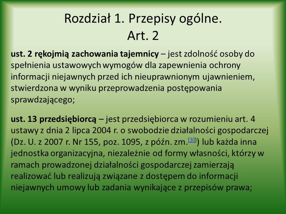 Rozdział 1. Przepisy ogólne. Art. 2