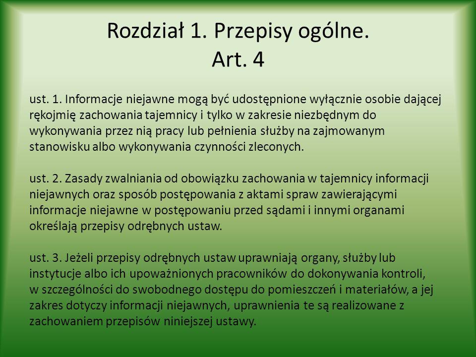 Rozdział 1. Przepisy ogólne. Art. 4