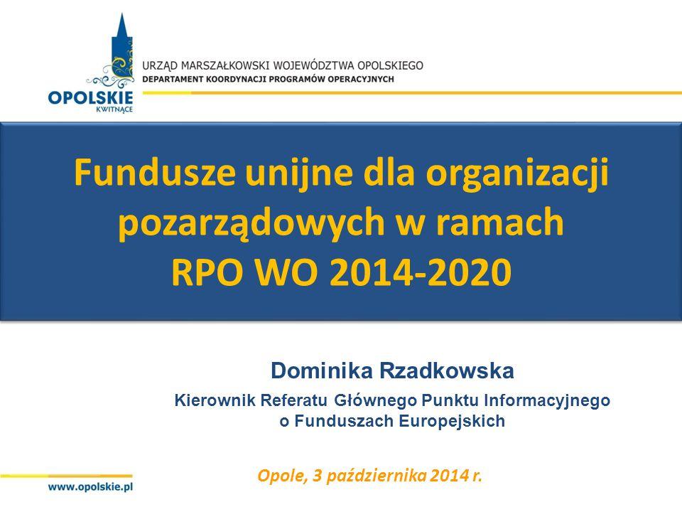Fundusze unijne dla organizacji pozarządowych w ramach