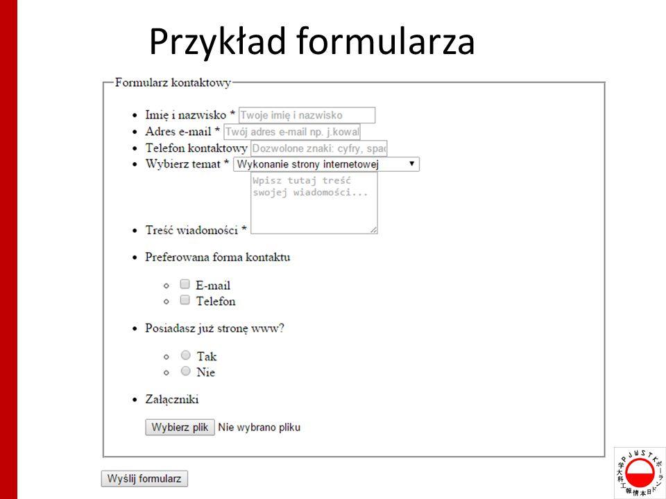 Przykład formularza