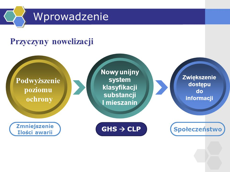 Wprowadzenie Przyczyny nowelizacji Podwyższenie poziomu ochrony