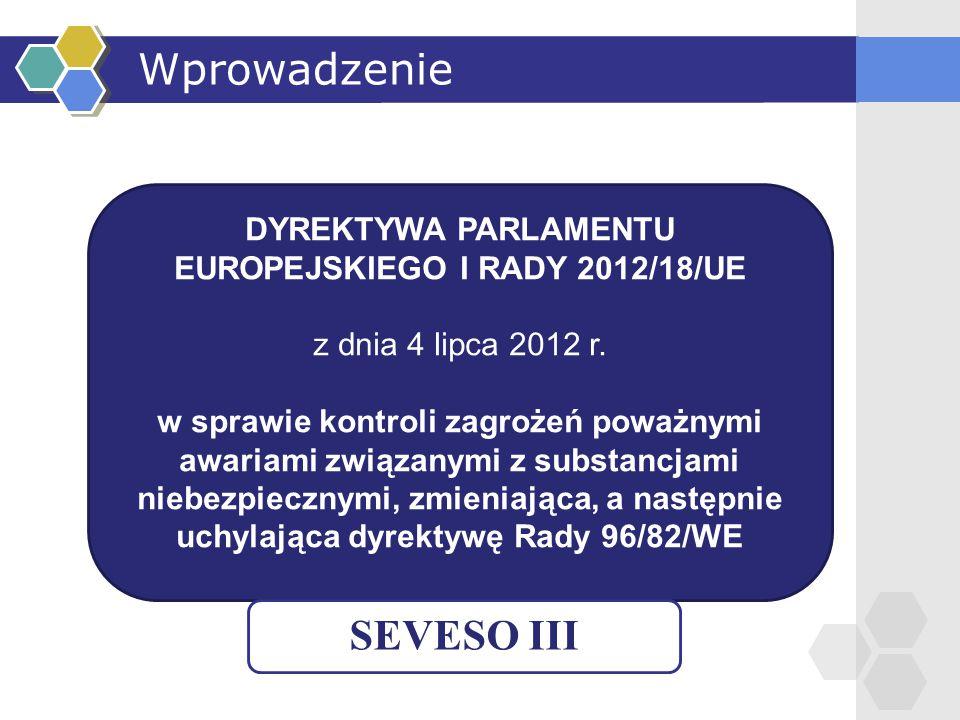 DYREKTYWA PARLAMENTU EUROPEJSKIEGO I RADY 2012/18/UE