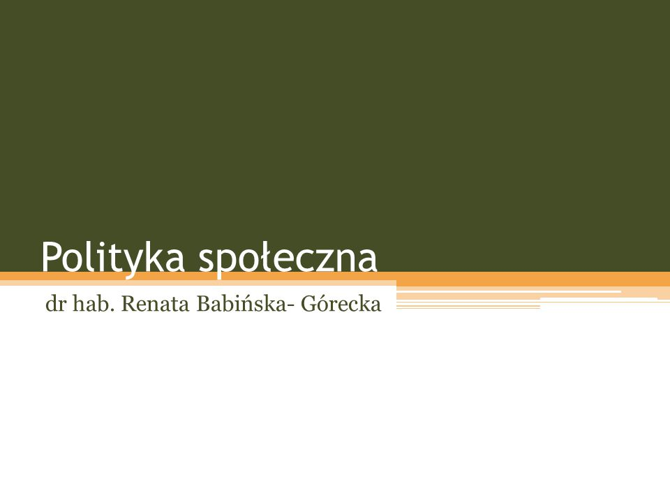 dr hab. Renata Babińska- Górecka