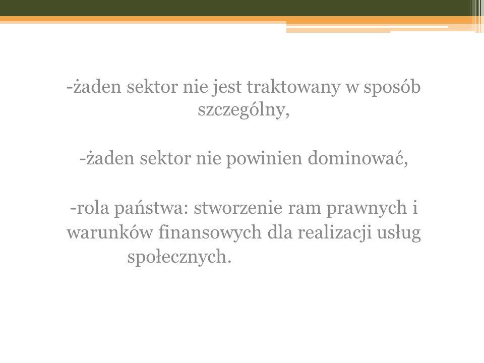 -żaden sektor nie jest traktowany w sposób szczególny,