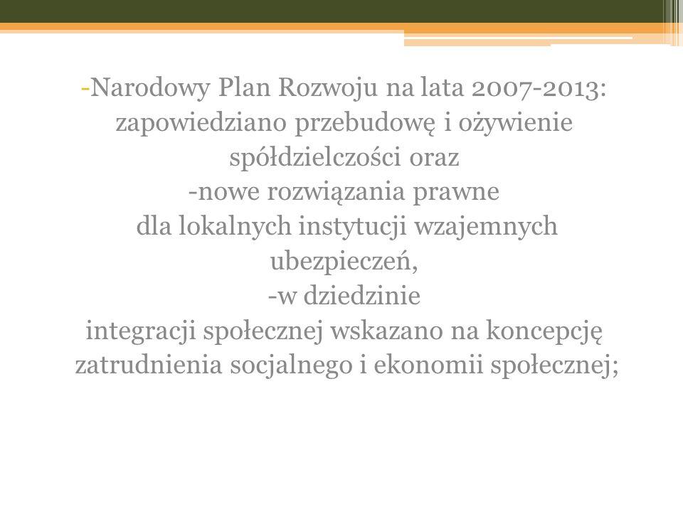 Narodowy Plan Rozwoju na lata 2007-2013: