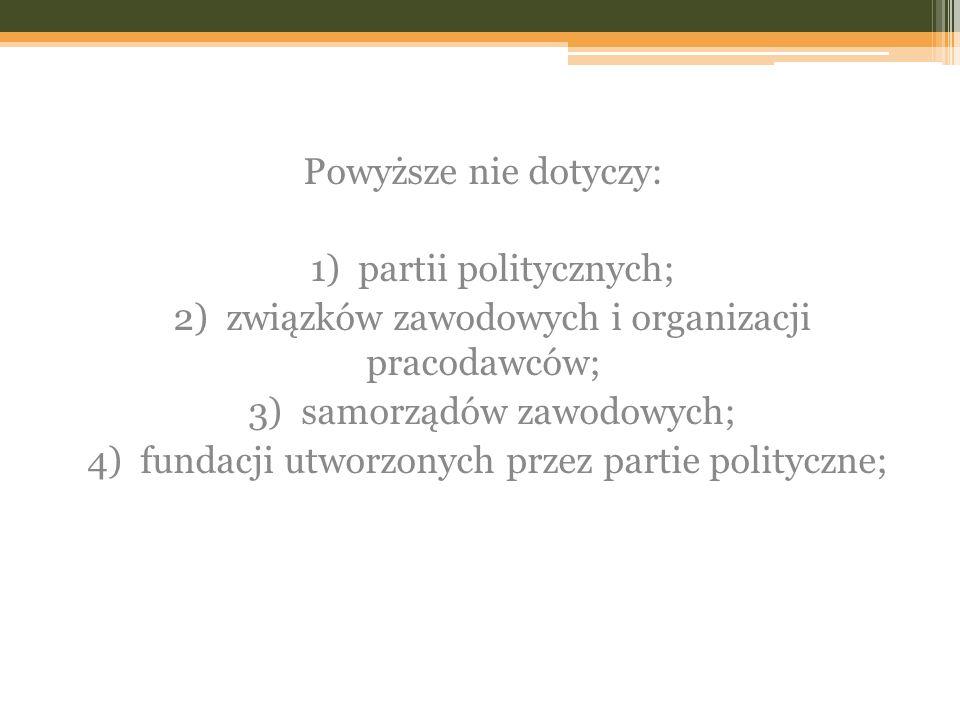 1) partii politycznych;
