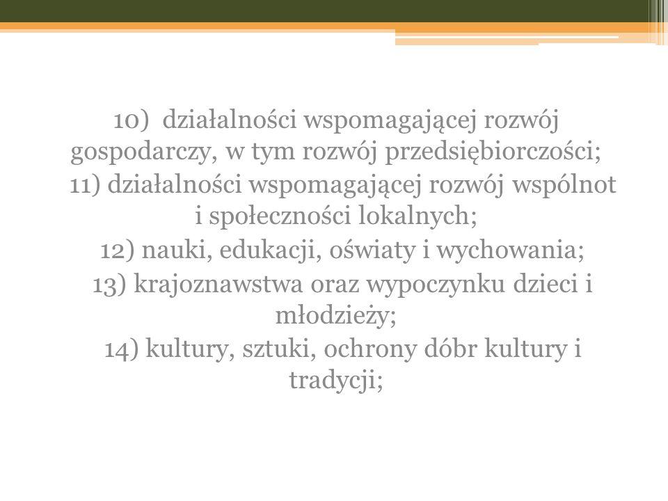 12) nauki, edukacji, oświaty i wychowania;