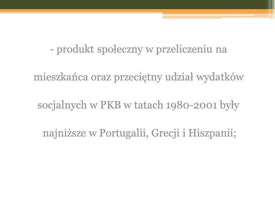 - produkt społeczny w przeliczeniu na
