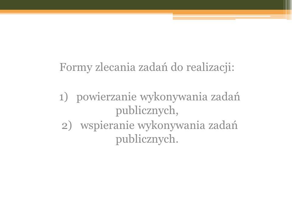 Formy zlecania zadań do realizacji: