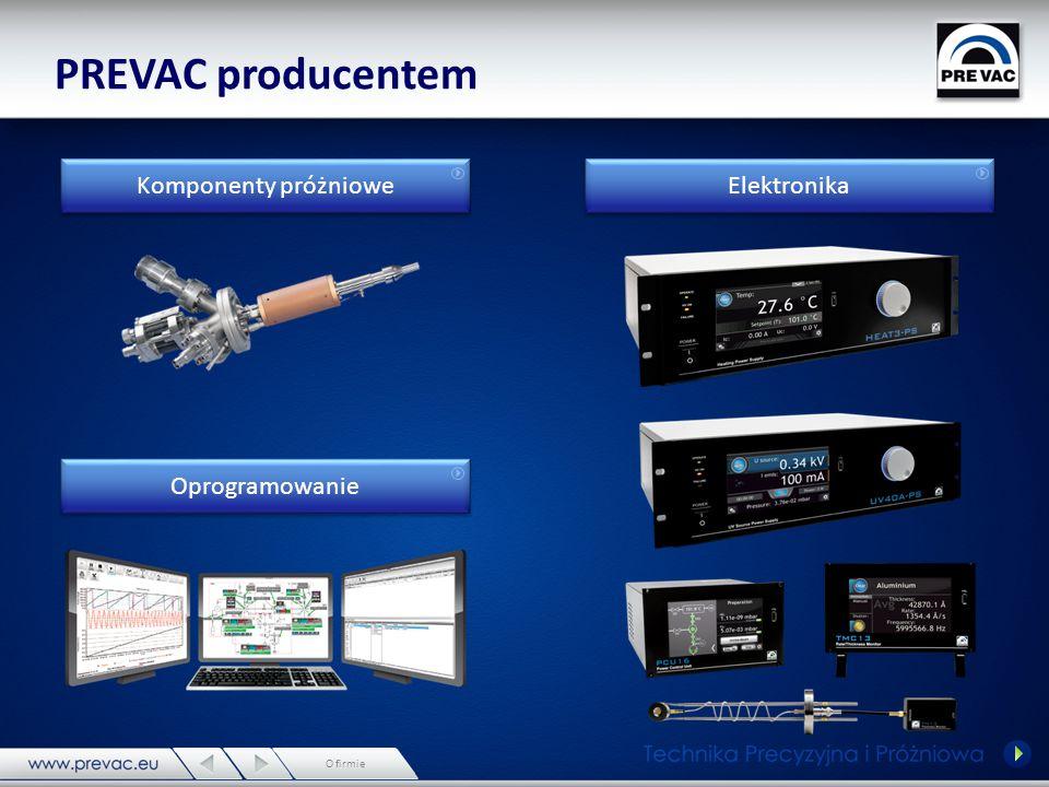 PREVAC producentem Komponenty próżniowe Elektronika Oprogramowanie