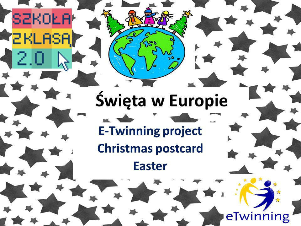 E-Twinning project Christmas postcard Easter