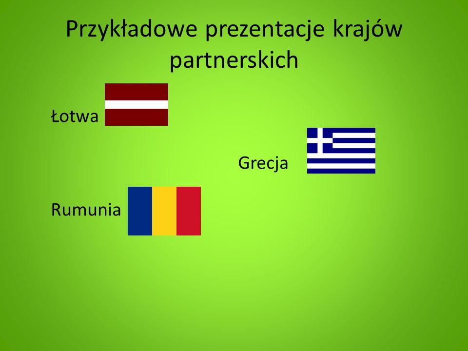 Przykładowe prezentacje krajów partnerskich