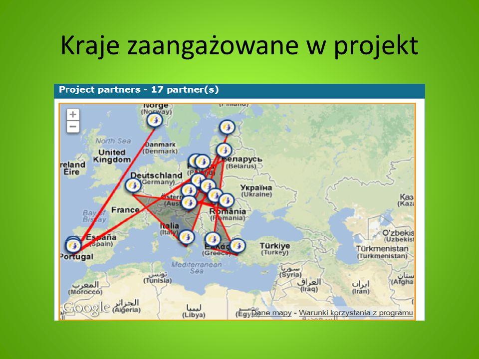 Kraje zaangażowane w projekt