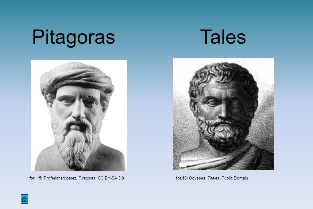 Pitagoras Tales fot. 15: Proferichardperez, Pitagoras, CC BY-SA 3.0