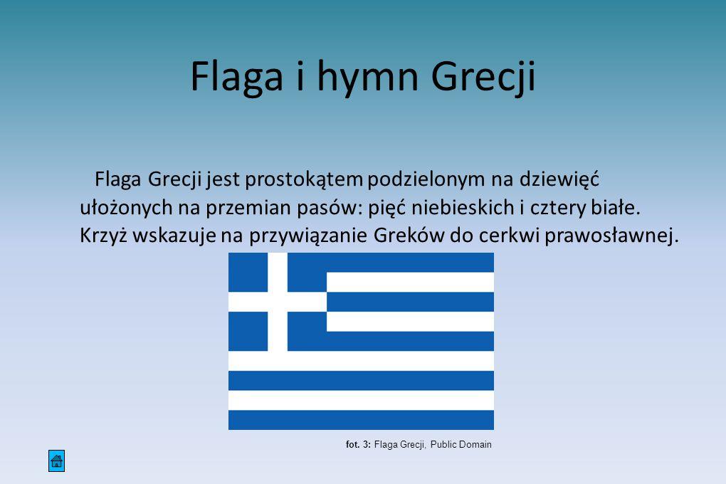 Flaga i hymn Grecji
