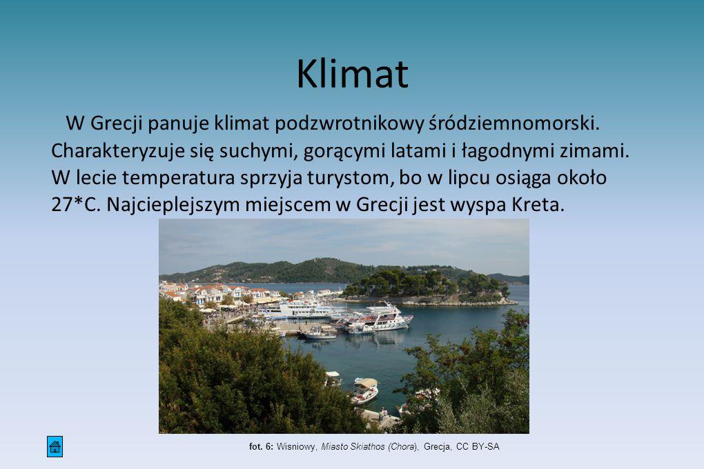 W Grecji panuje klimat podzwrotnikowy śródziemnomorski