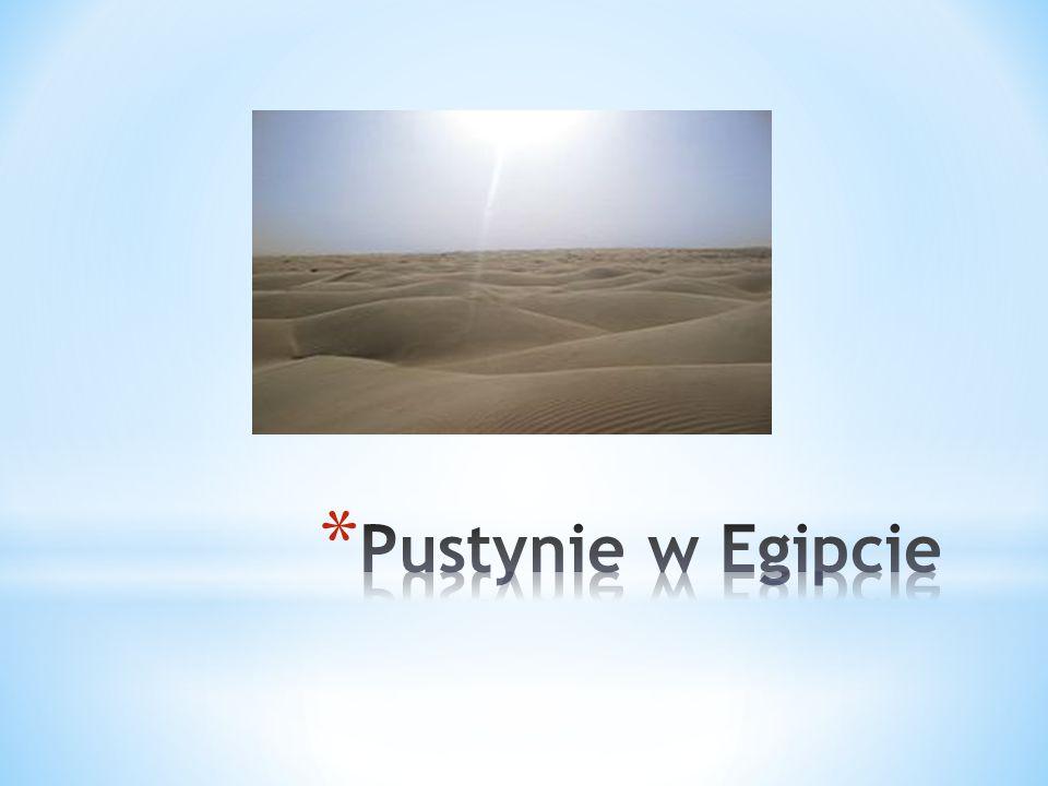 Pustynie w Egipcie