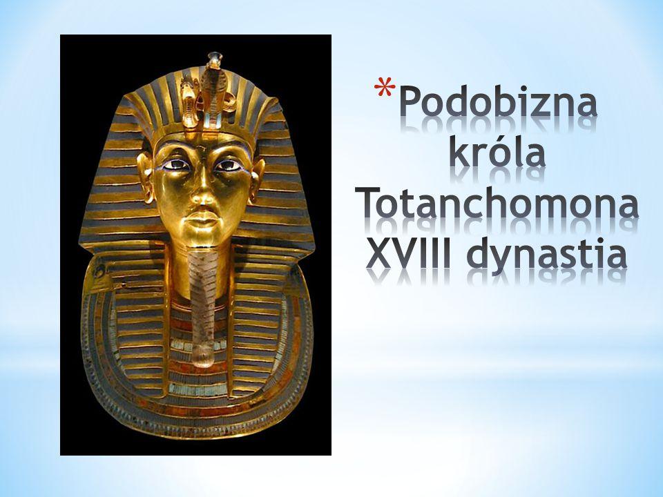 Podobizna króla Totanchomona XVIII dynastia