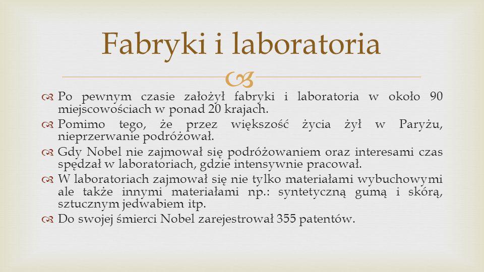 Fabryki i laboratoria Po pewnym czasie założył fabryki i laboratoria w około 90 miejscowościach w ponad 20 krajach.