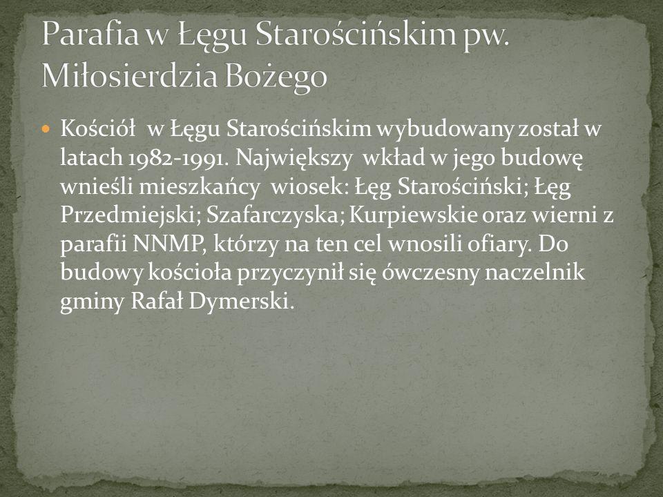 Parafia w Łęgu Starościńskim pw. Miłosierdzia Bożego