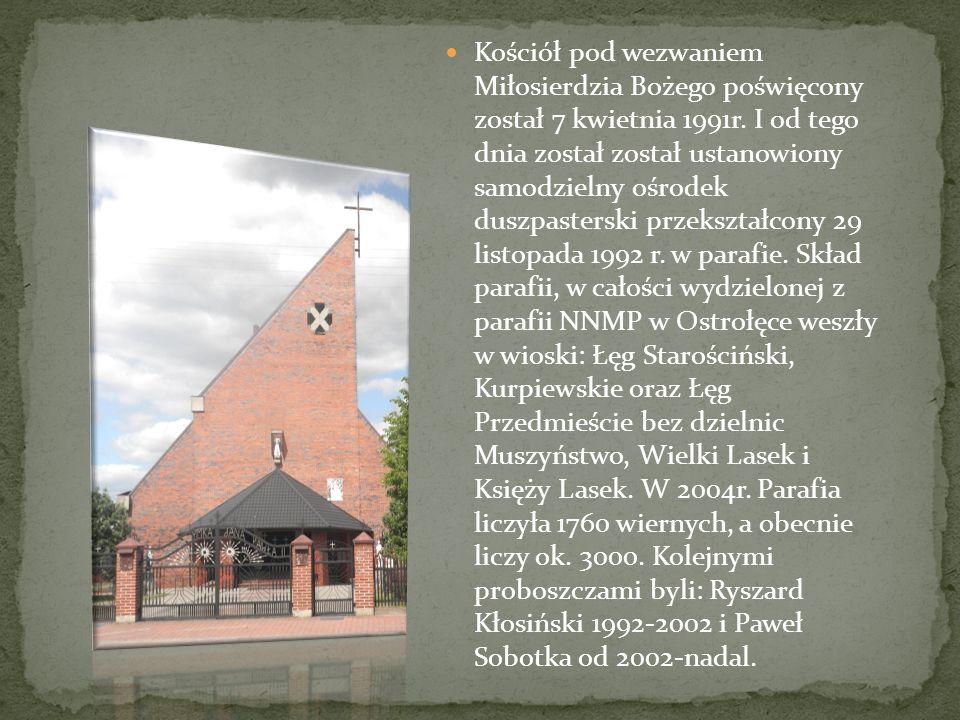 Kościół pod wezwaniem Miłosierdzia Bożego poświęcony został 7 kwietnia 1991r.