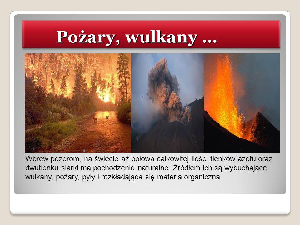 Pożary, wulkany …