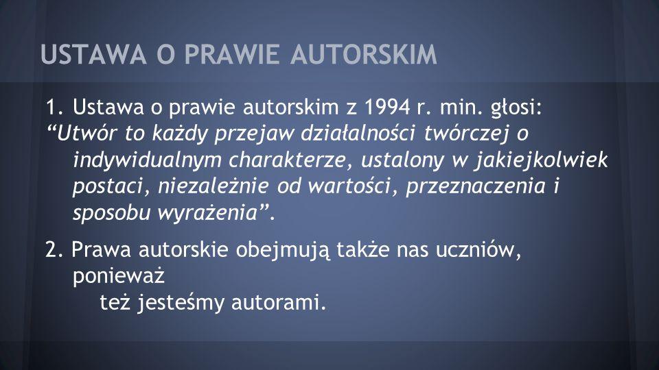 USTAWA O PRAWIE AUTORSKIM