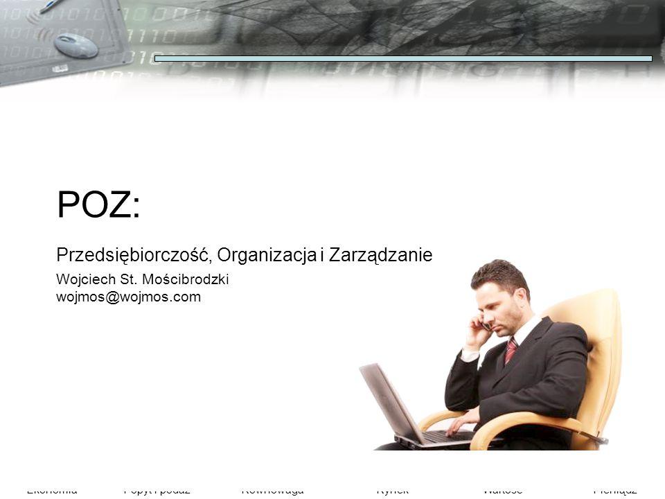 POZ: Przedsiębiorczość, Organizacja i Zarządzanie Wojciech St