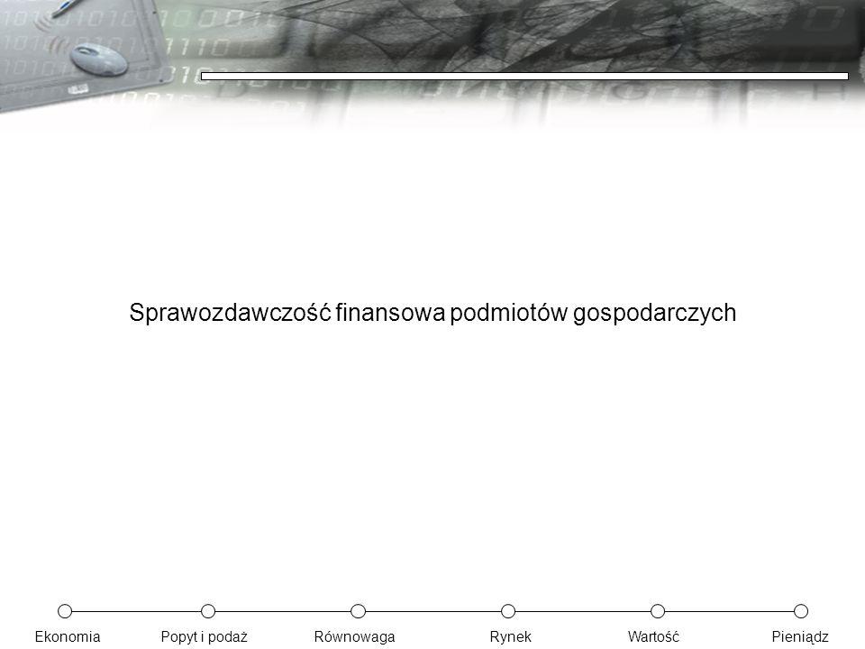 Sprawozdawczość finansowa podmiotów gospodarczych