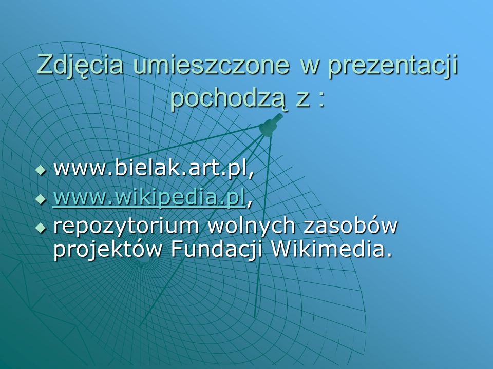 Zdjęcia umieszczone w prezentacji pochodzą z :