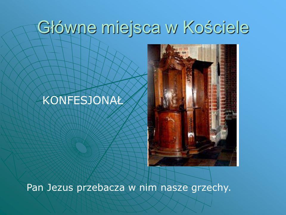 Główne miejsca w Kościele