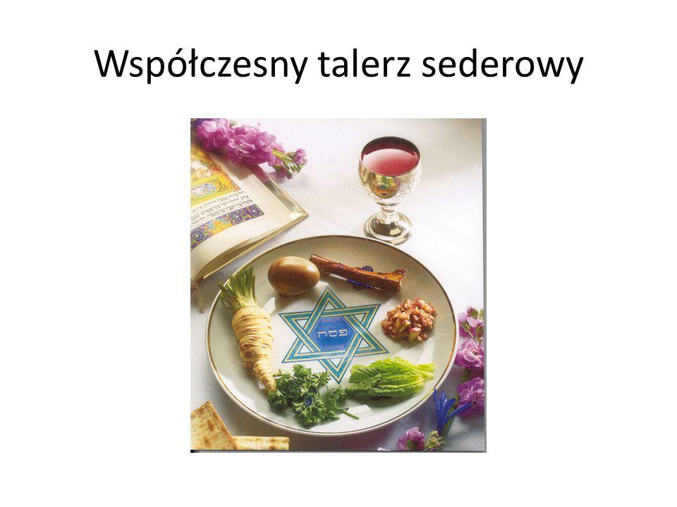 Współczesny talerz sederowy