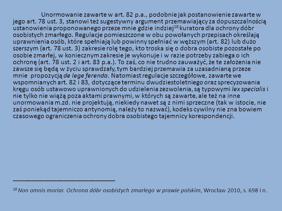 Unormowanie zawarte w art. 82 p. a