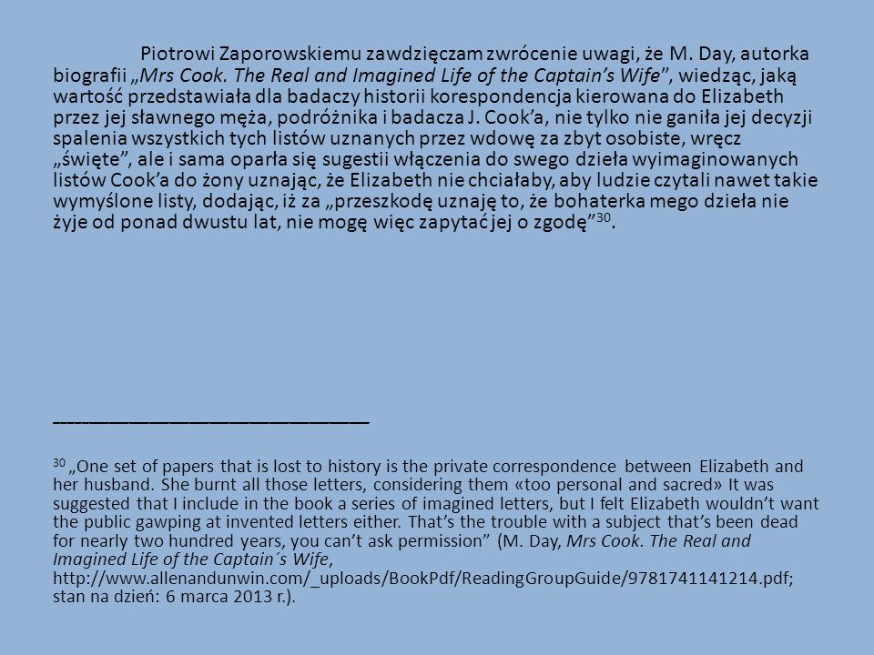 Piotrowi Zaporowskiemu zawdzięczam zwrócenie uwagi, że M