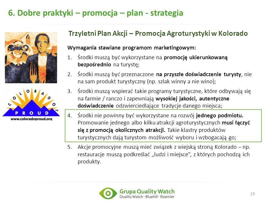 6. Dobre praktyki – promocja – plan - strategia