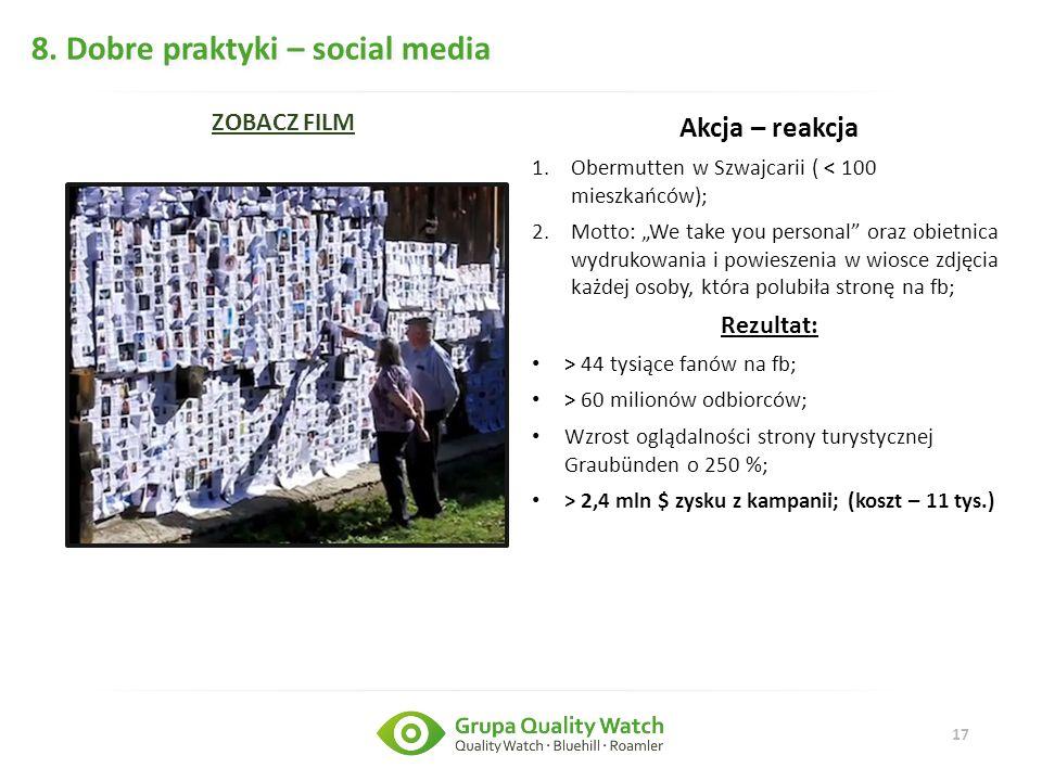 8. Dobre praktyki – social media