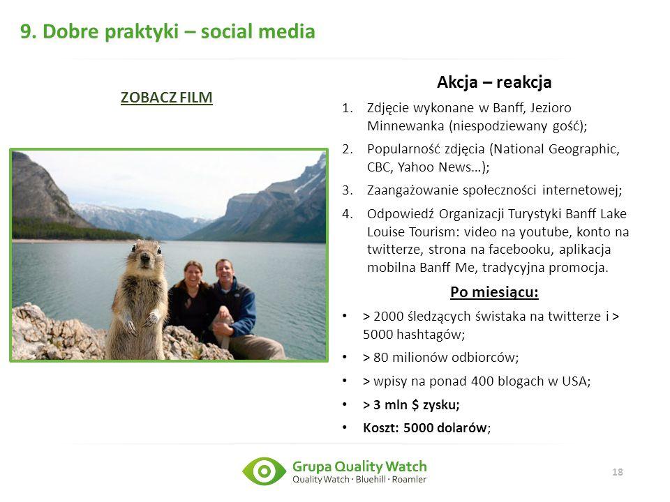 9. Dobre praktyki – social media