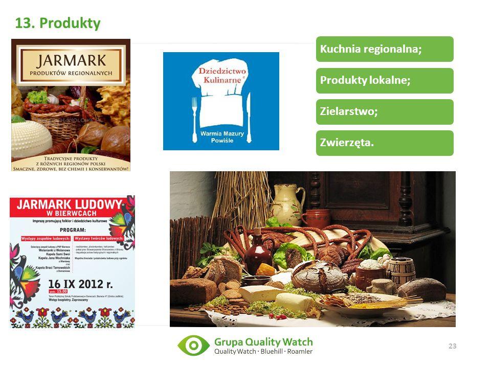 13. Produkty Kuchnia regionalna; Produkty lokalne; Zielarstwo;