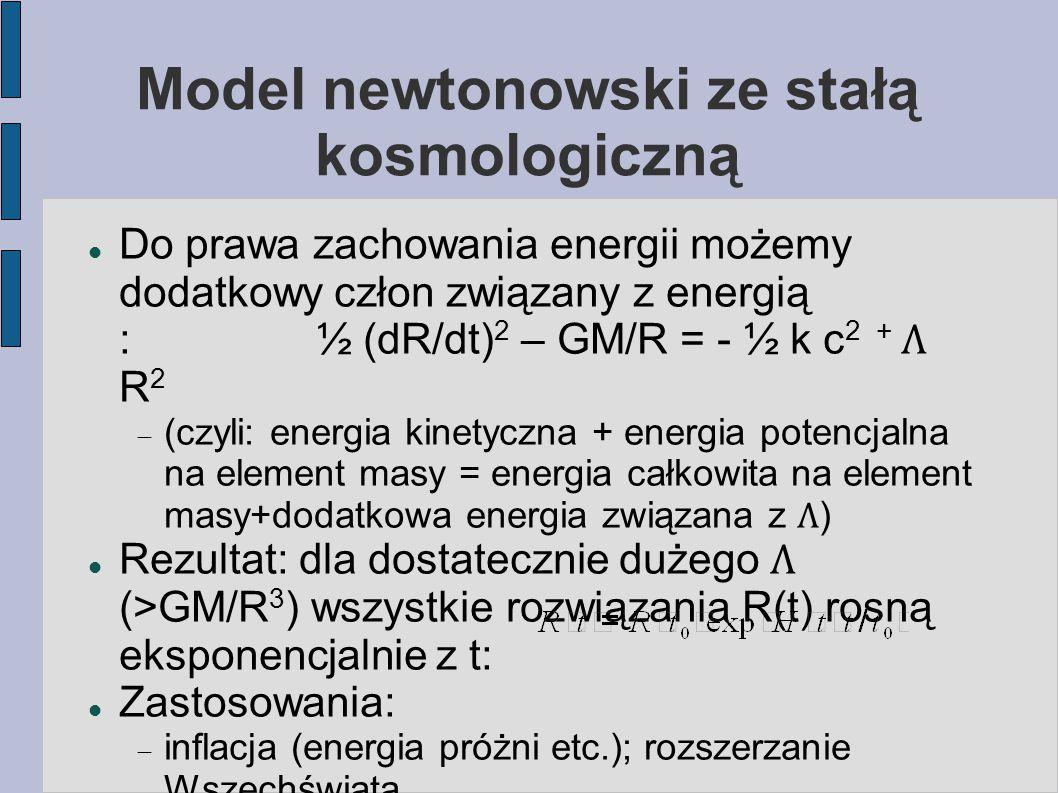 Model newtonowski ze stałą kosmologiczną