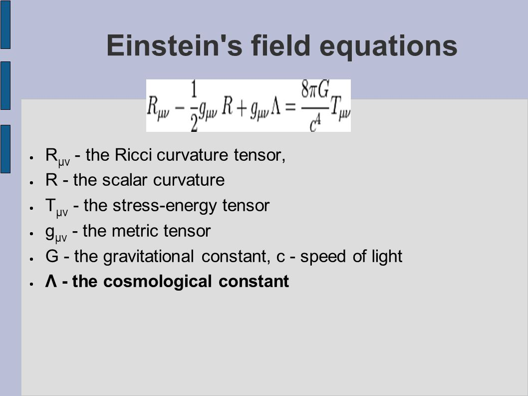 Einstein s field equations