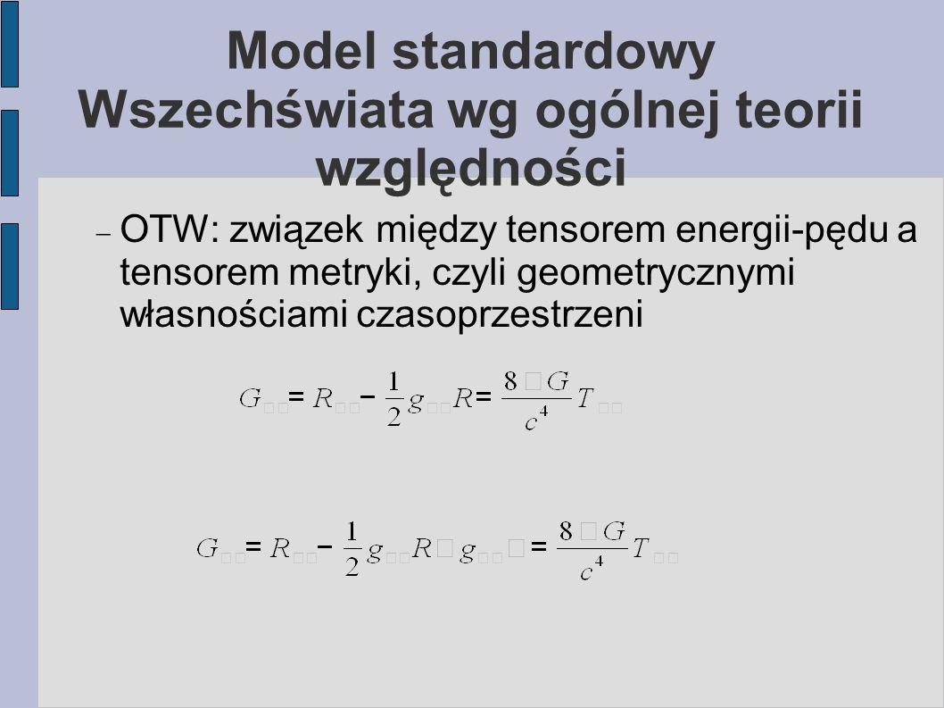 Model standardowy Wszechświata wg ogólnej teorii względności
